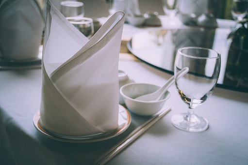 Table set of festive event restaurant